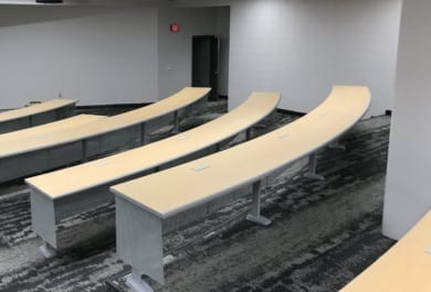 Lecture Hall Table Installation at Ferris State University-Big Rapids, MI