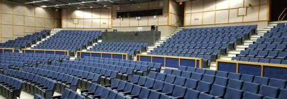 Fixed Seating Installation at University High School-Orlando, FL