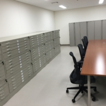 Office furniture installation at Akizuki Army Ammunition Depot in Camp Kure, Japan