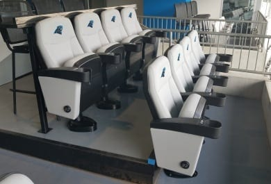 Fixed Seating Installation at Bank of America Stadium in Charlotte, NC