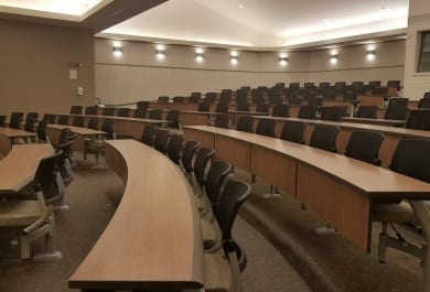 Lecture Hall Table Installation at University of Michigan in Ann Arbor, MI