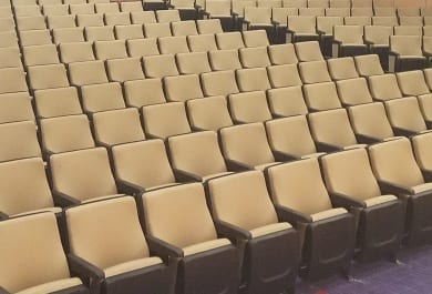 Fixed Seating Installation at Stonehill College in North Easton, MA