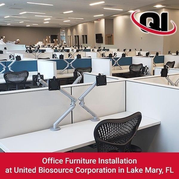 Office Furniture Installation At United Biosource
