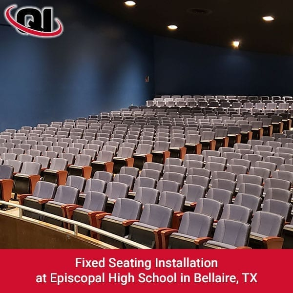 Fixed Seating Installation At Episcopal High School In