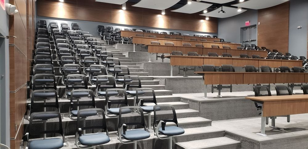 Fixed Seating Amp Lecture Hall Table Installation At Kent