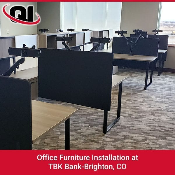 Office Furniture Installation At TBK Bank-Brighton, CO